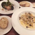牡蠣とキノコのクリームソース