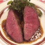 宮崎尾崎牛もも肉のステーキ