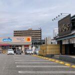 臨港線ぞい万代の前の「焼肉きんぐ」と「ウエルシア」が5月上旬で閉店