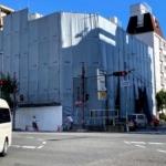 「鮨 中乃」の南東にあるビルが解体されてる